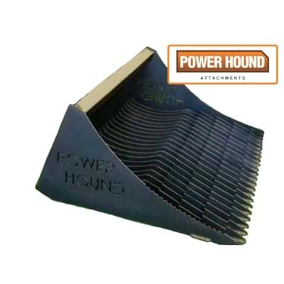 Power Hound Attachments, fire wood collection, rock bucket heavy duty,rock bucket, stick bucket, skeleton bucket, euro hitch,earth moving, construction, sieve bucket, rock picker, tractor, tractor attachment, tractor equipment, made in Australia,1800 mm wide, 2100 mm wide, 2400 mm wide, pick up sticks, pick up rocks, clean up debris, clean up building sites, clean up flood damage, clean up fire damage, earth moving, construction, farming, tractor, tractor sale, back hoes, bucket, john deere tractor, kubota tractor, skid steers
